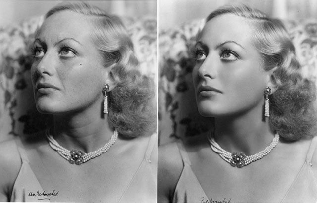 Beauty Retouching from the Early 1900s: A Portrait of Actress Joan Crawford That's 'Photoshopped'