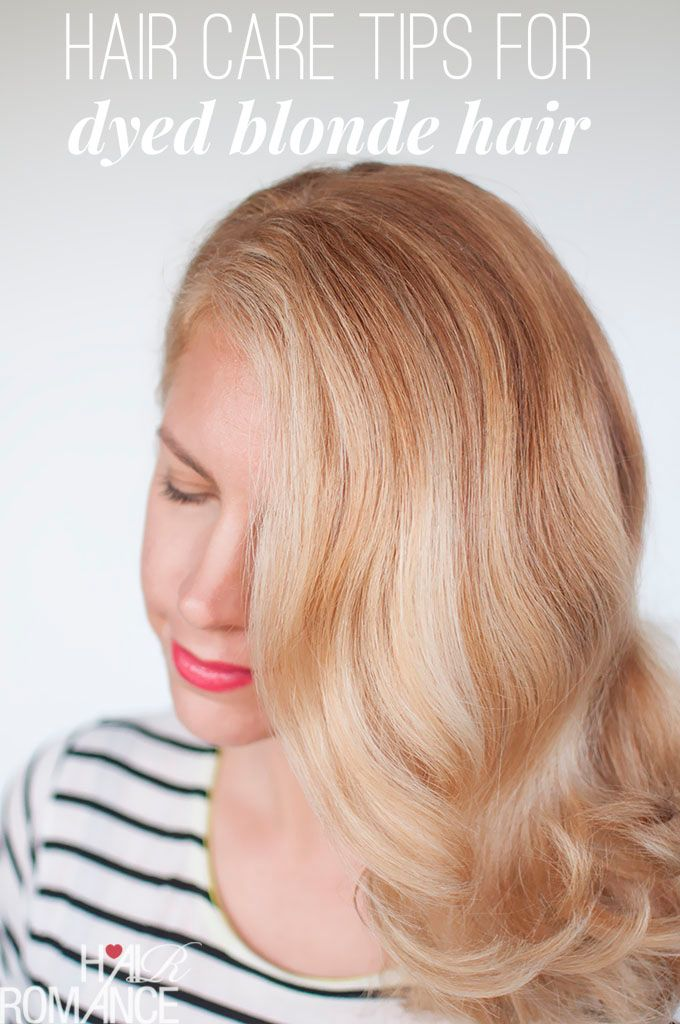 Simple hair care tips for dyed blonde hair