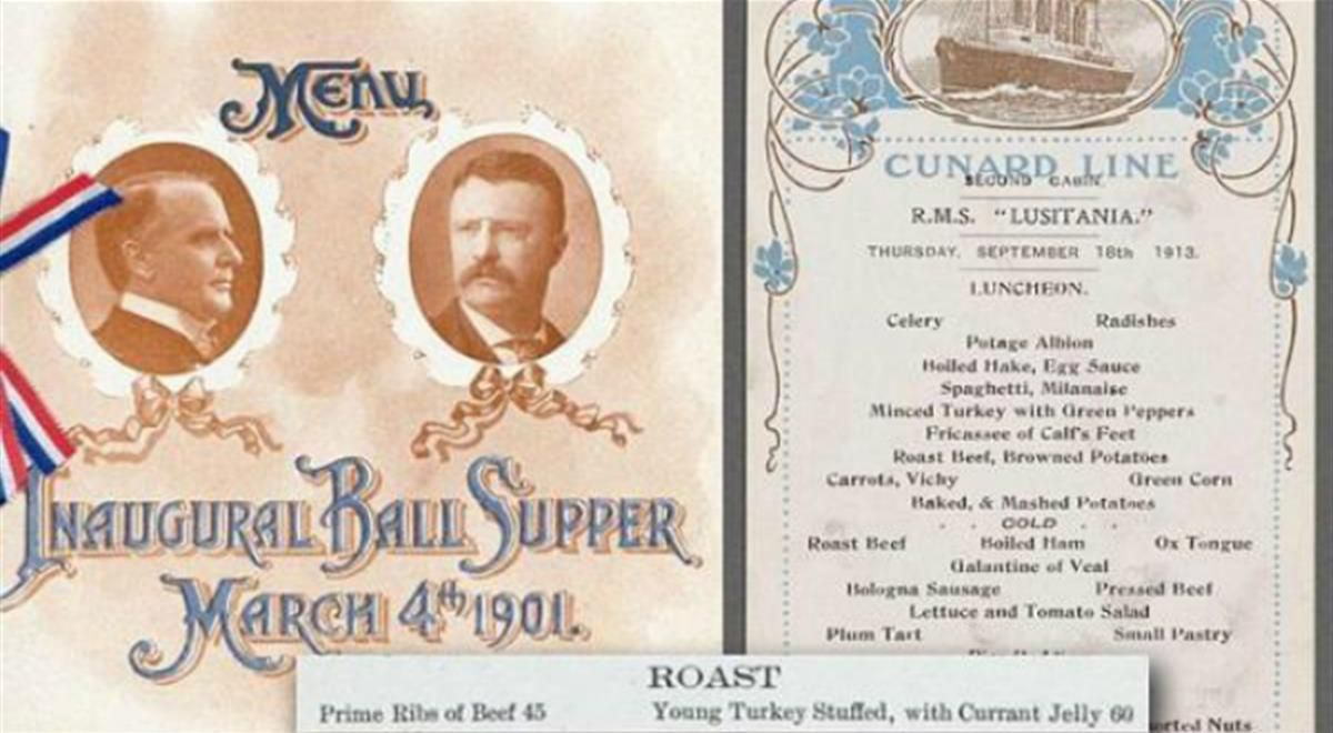 New York Library Reveals What was on the American Menu 100 Years Ago