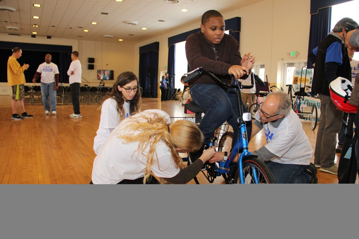 Clinic delivers adaptive bikes to APG youth