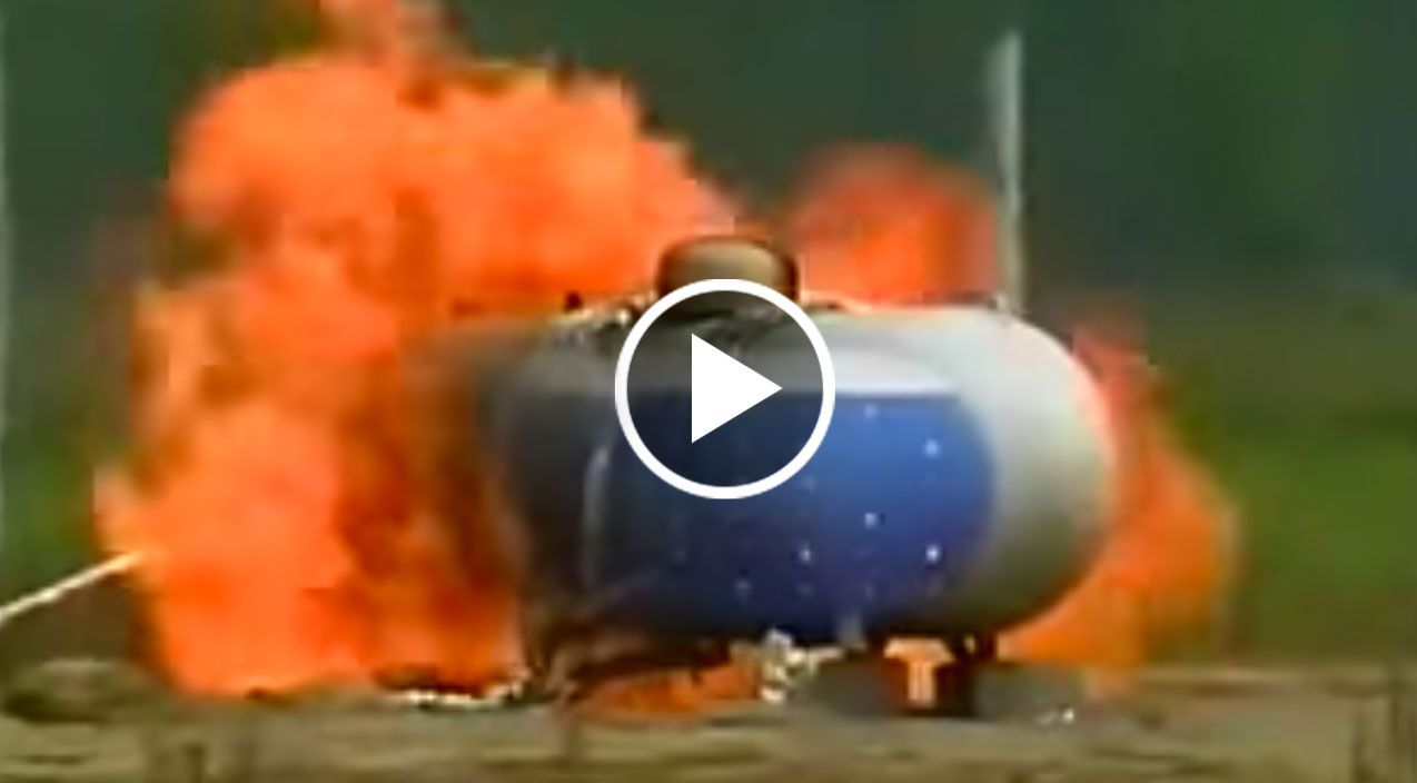 This is What a Massive 500 Gallon Propane Tank Explosion Looks Like