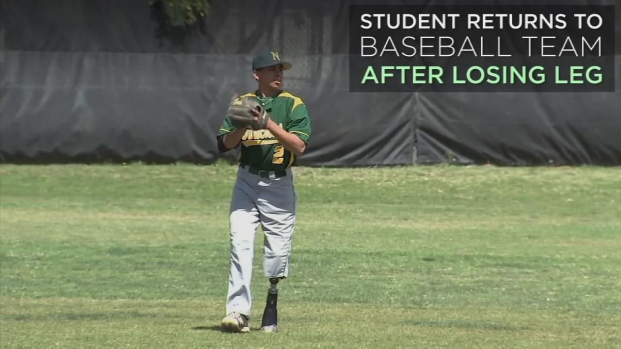 Narbonne student who lost leg returns to baseball mound
