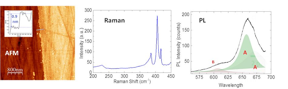 NEW Improved Process for 2 Dimensional MoS2 Fabrication Using Raman Metrology