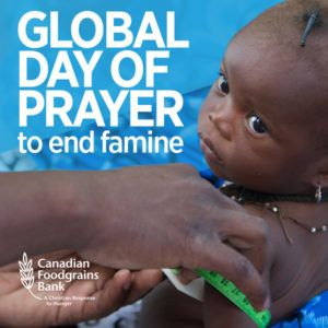 May 21: Global Day of Prayer to End Famine