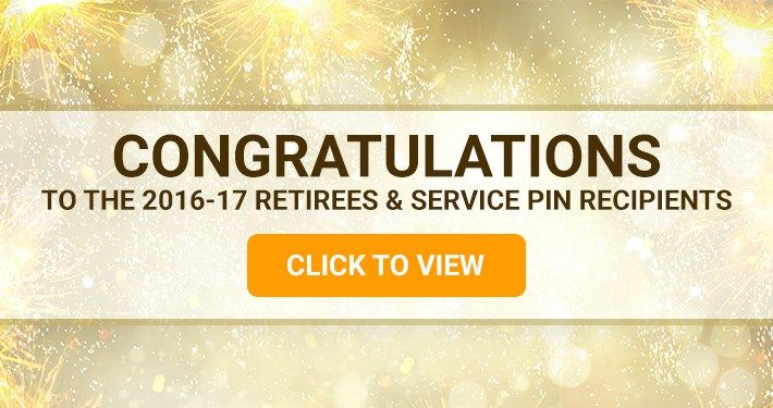 17 Retirees & Service Pin Recipients
