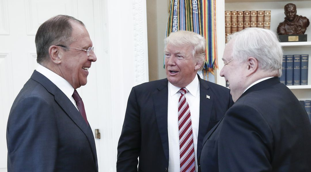 "Report: Trump told Russian officials that Comey was a ""nut job"" whose firing eased ""great pressure"""