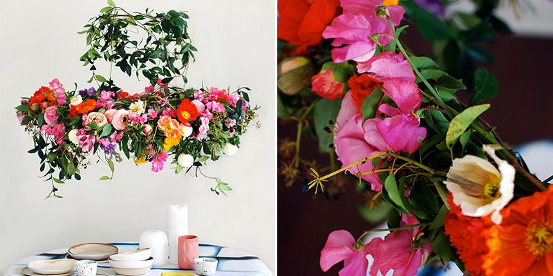 Floral Chandeliers Are Taking Over Dining Rooms