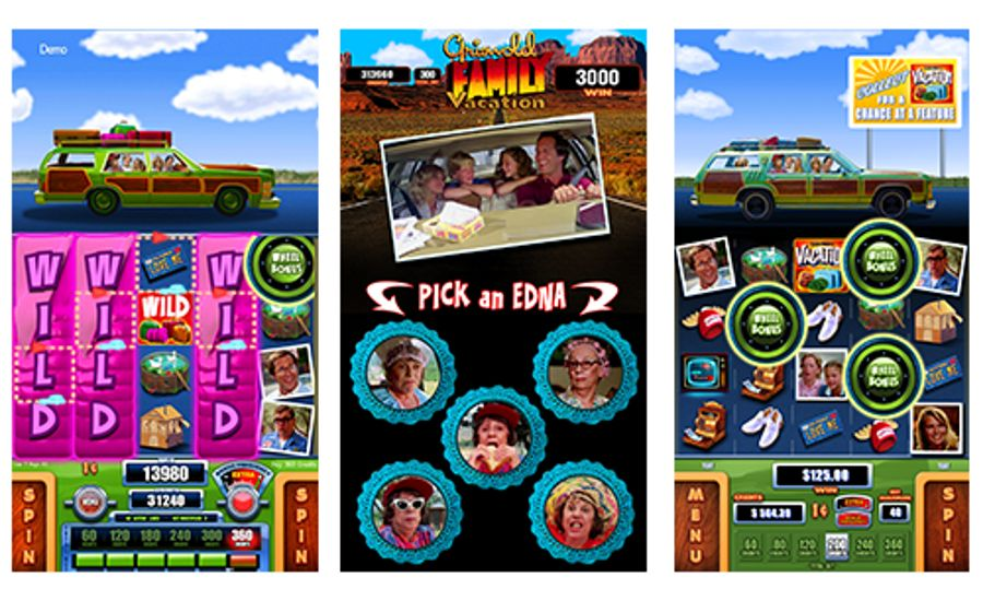 National Lampoon's Vacation video slot machine—SCIENTIFIC GAMES