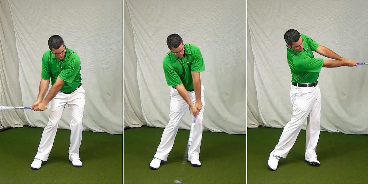 Video Drill: Trail foot down at impact for power