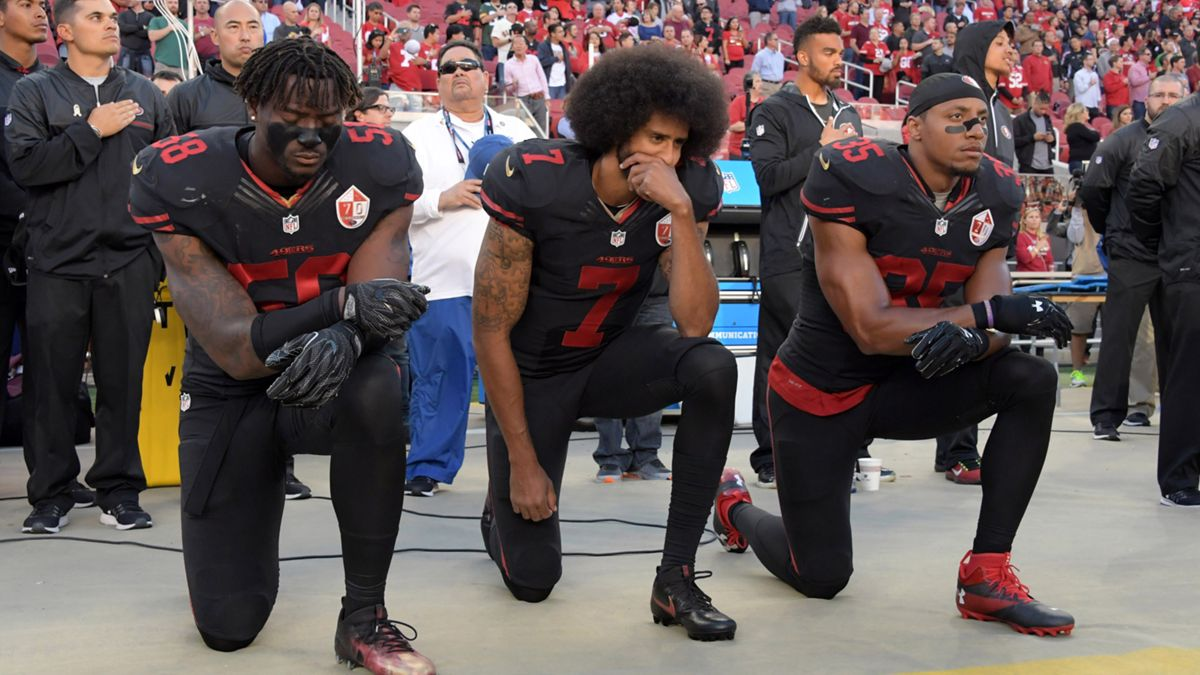 Protests held in Atlanta, around the country for unsigned QB Colin Kaepernick