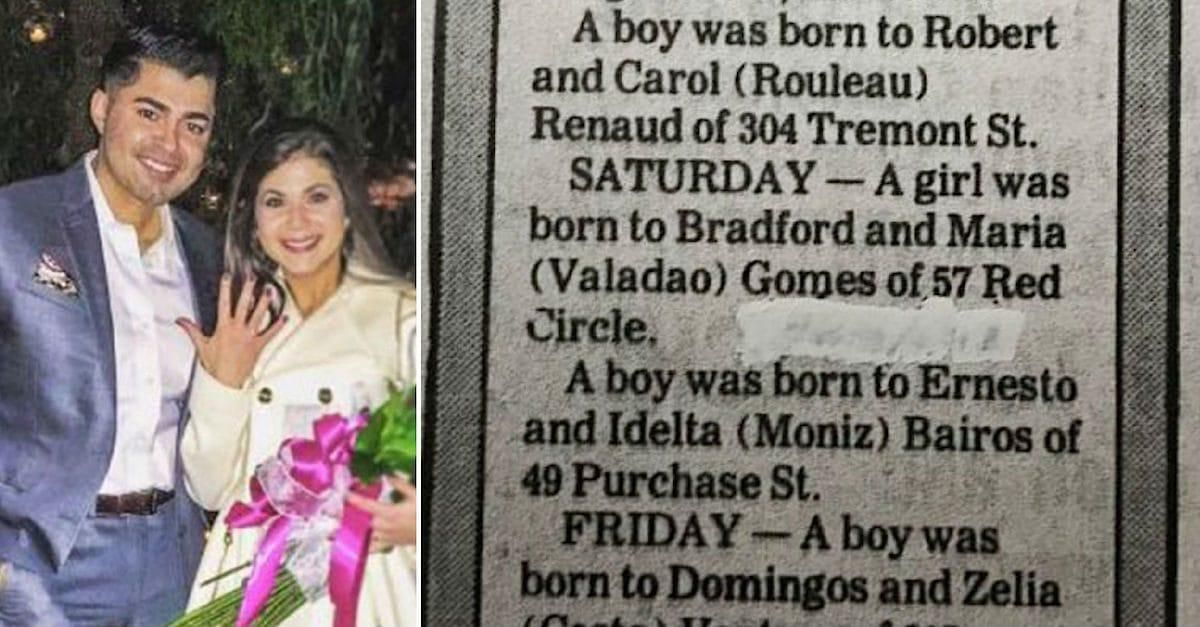 Woman Falls In Love But Grandma Finds Her Birth Announcement And He's In It