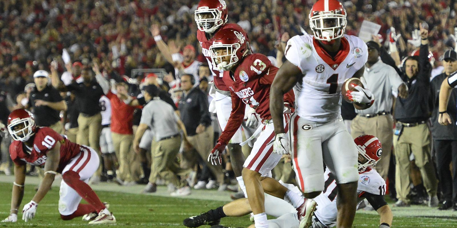 Georgia survives Oklahoma in classic, back