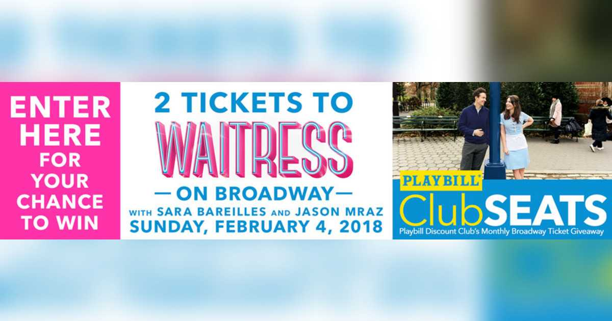 Join the Club for your chance to win two Playbill ClubSEATS!