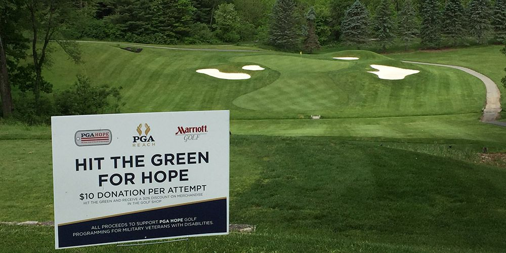 Annual 'Hit the Green for HOPE' Marriott Golf Promotion Generates $48,000 for PGA REACH