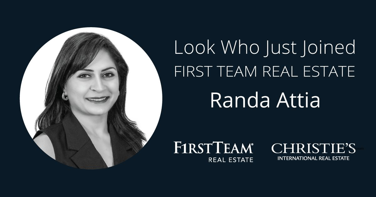 First Team Welcomes Randa Attia to Tustin Office