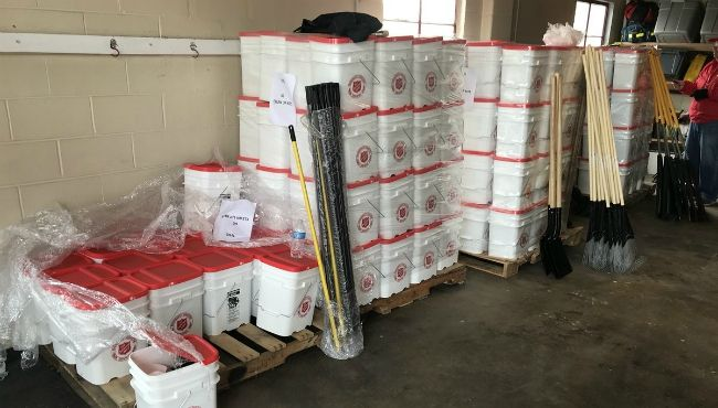 Cleanup kits offered to those affected by flooding