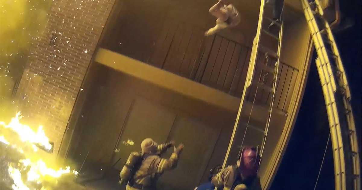 WATCH: Heroic Firefighter Catches Child Thrown from Burning Building: 'We Were Catching Babies Like Footballs'
