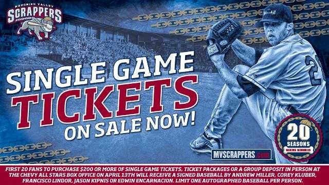 Scrappers Single Game Tickets On Sale Now!