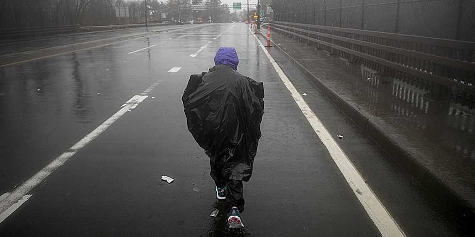 The Story Behind One of the Last Runners on the Boston Marathon Course