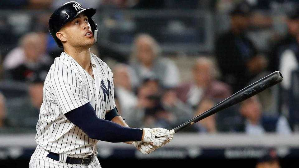 Giancarlo Stanton hits two homers vs. Red Sox