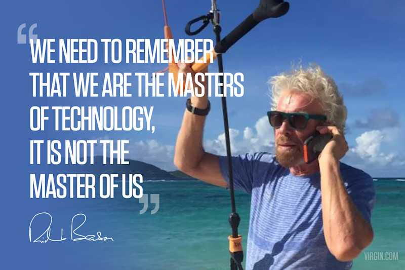 We need to remember that we are the masters of technology