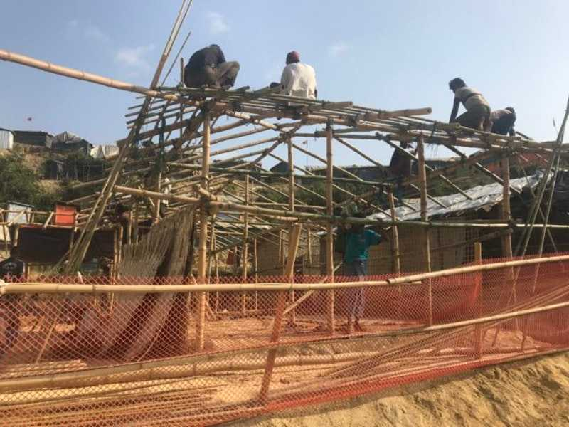 Pockets of creativity bloom in Rohingya camps ahead of monsoon
