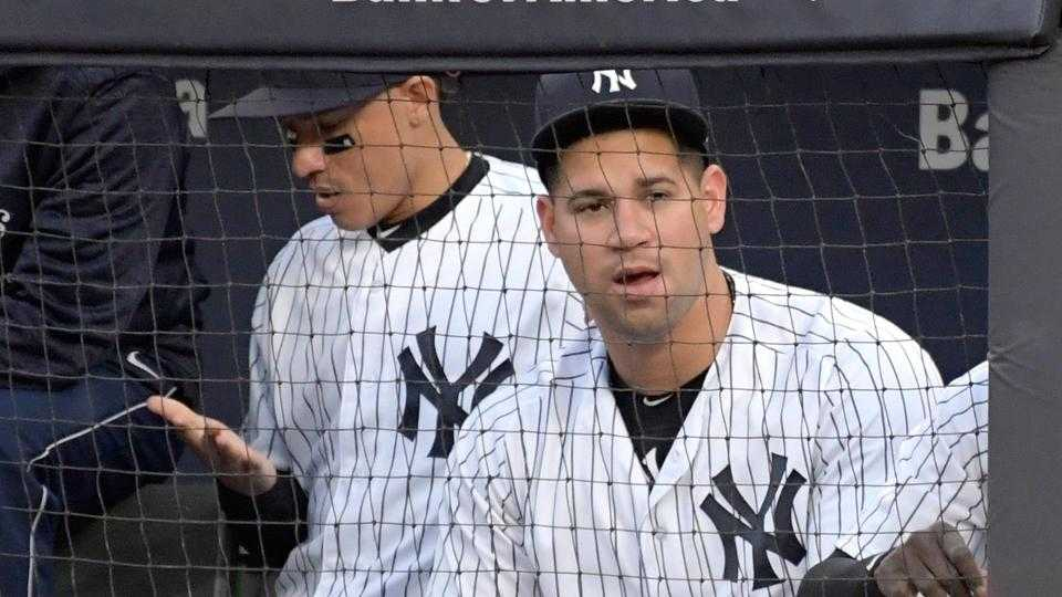 Gary Sanchez out of Yankees' starting lineup