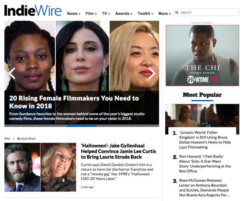 IndieWire Breaks Traffic Record in May 2018 With Over 10.5 Million Unique Readers