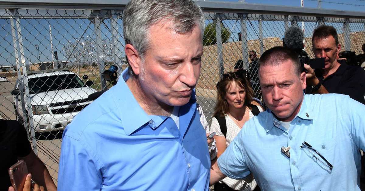 Border Protection says NYC mayor crossed US
