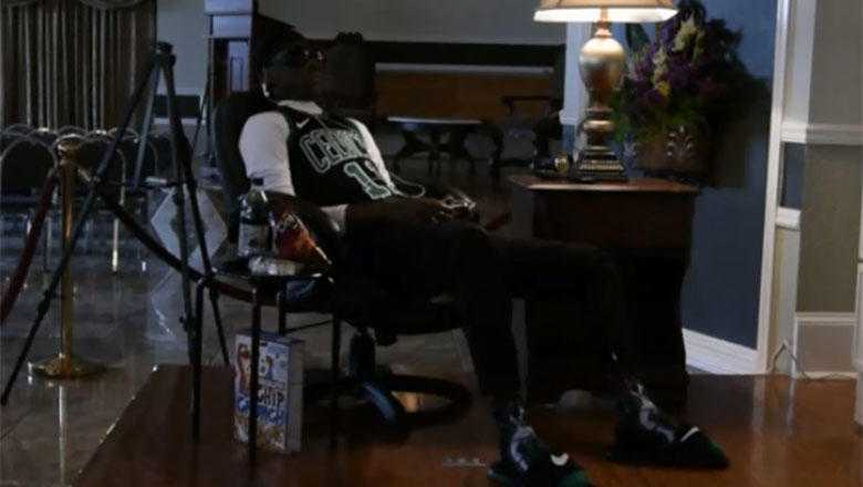 For His Wake, New Orleans Teen Is Propped Up In Chair Playing Video Games