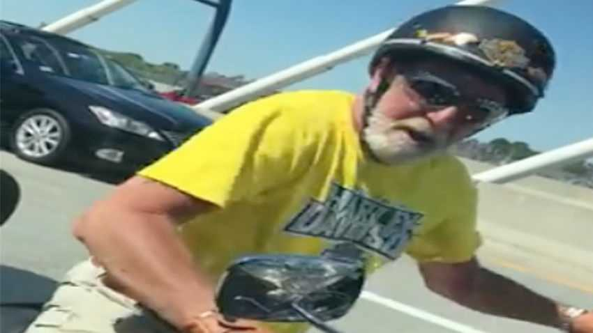 Motorcyclist involved in Zakim Bridge road rage incident talks to police