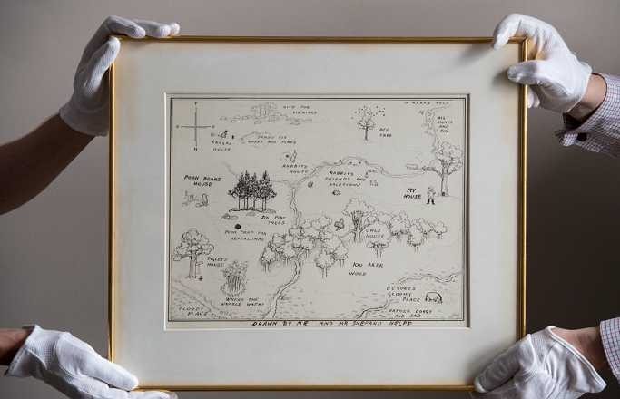 Winnie The Pooh Map Breaks Auction Record