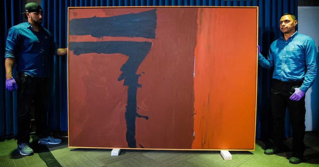 Missing for Four Decades, a Stolen Motherwell Painting Turns Up