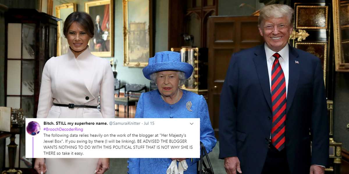People think the Queen subtly rebelled against Donald Trump without him even noticing