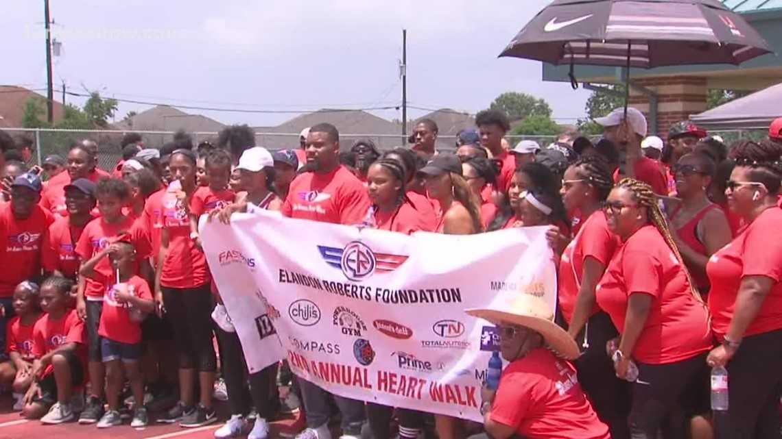Elandon Roberts holds second annual Heart Walk