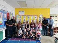 Abington's SRO's and Chief Majenski stopped into the Beaver Brook Elementary School for a visit ... from Abington Police Department : Nixle