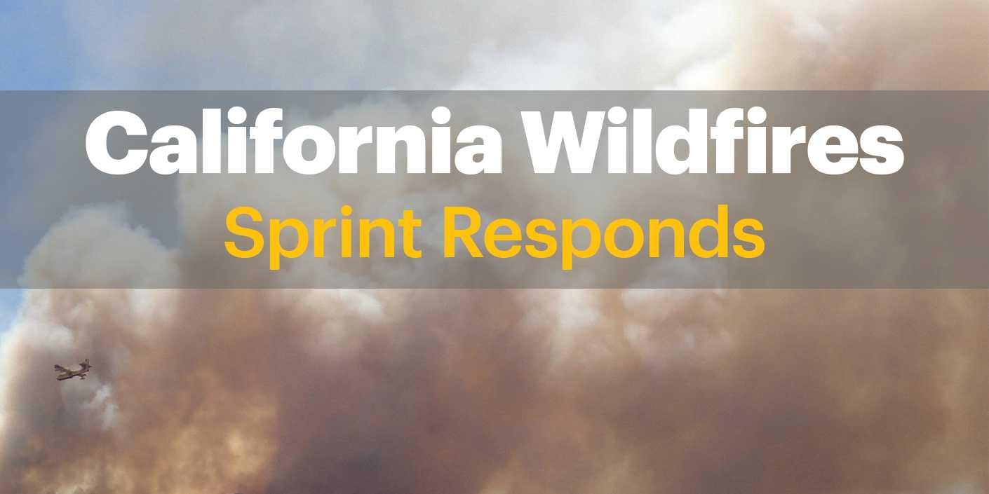 Sprint Responds to Northern California Wildfires