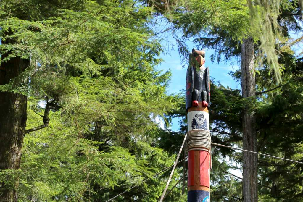 New totem pole on Prince of Wales Island honors Alaska's veterans