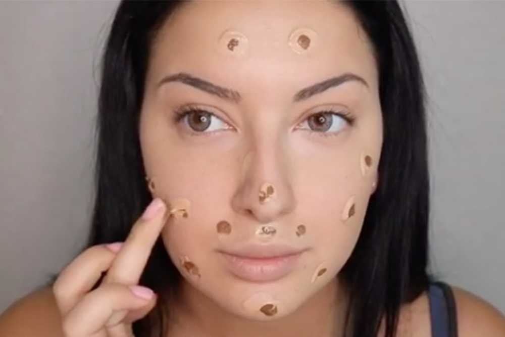 Is This Gross-Looking Foundation Technique the Secret to Flawless Skin?