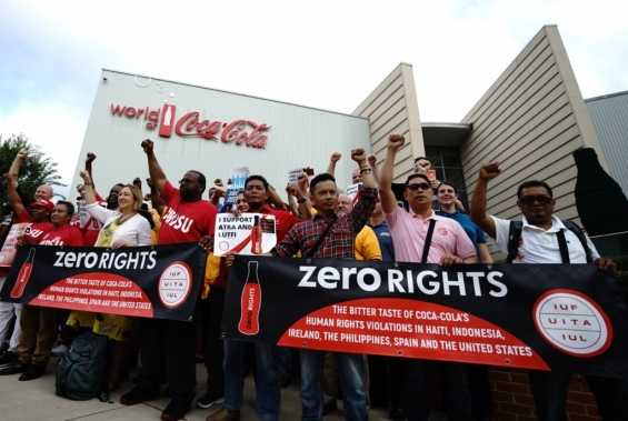 Teamsters Join International Delegation of Coca-Cola Workers at Atlanta Protest