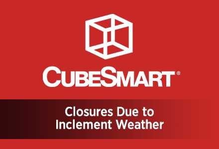 Inclement Weather Warning: CubeSmart Facilities' Precautionary Closures