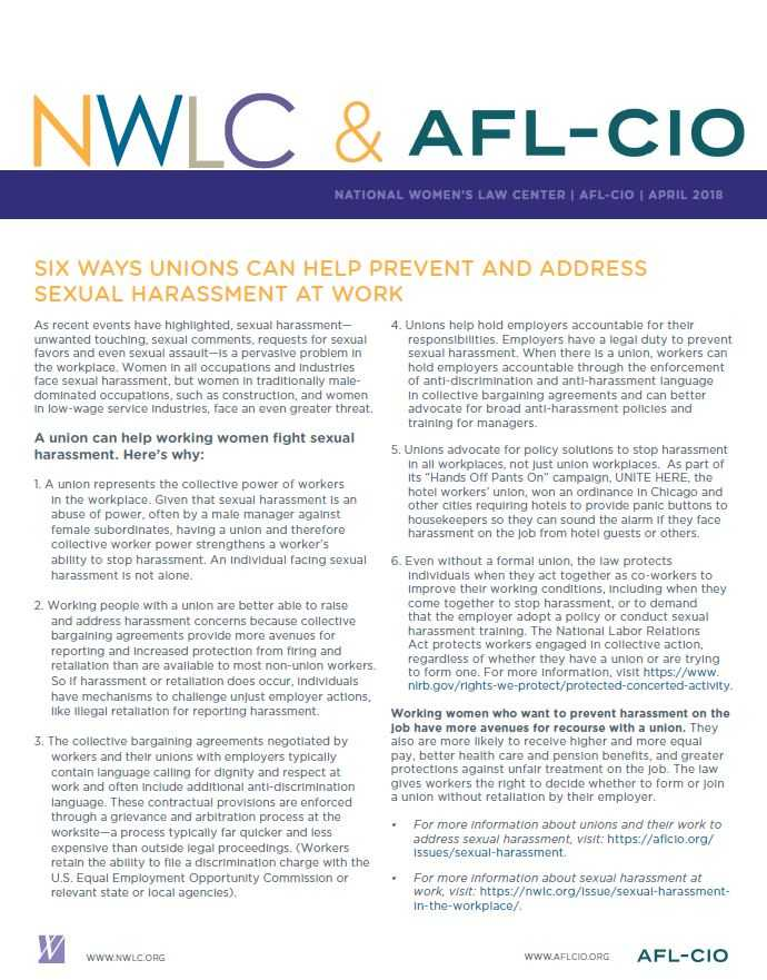 Six Ways Unions Can Help Prevent And Address Sexual Harassment At Work