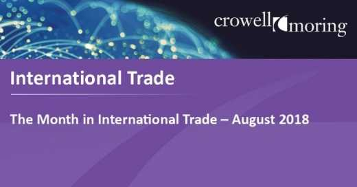 The Month in International Trade
