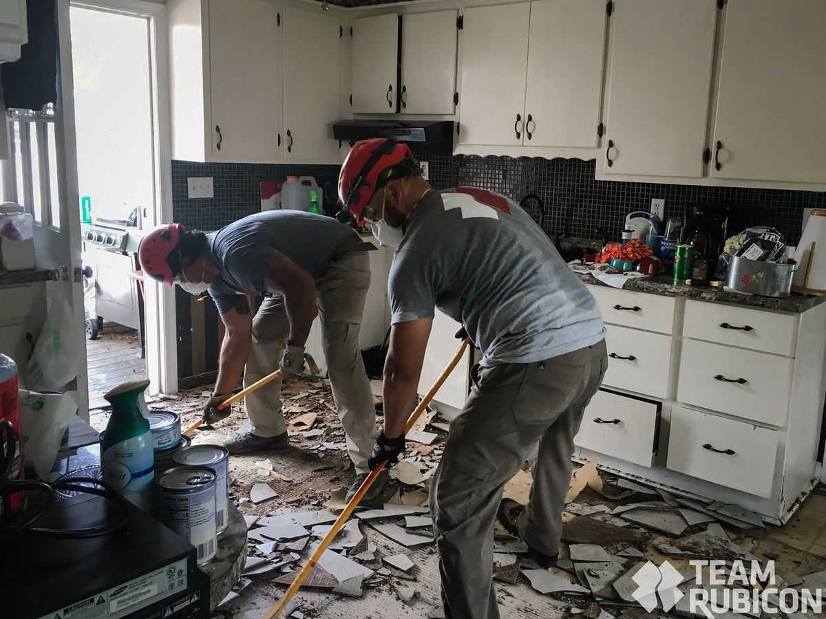 Military veterans, first responders travel from across the country to help clean up hurricane damage