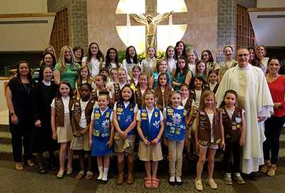 Girl Scouts honored at St. Matthew Church