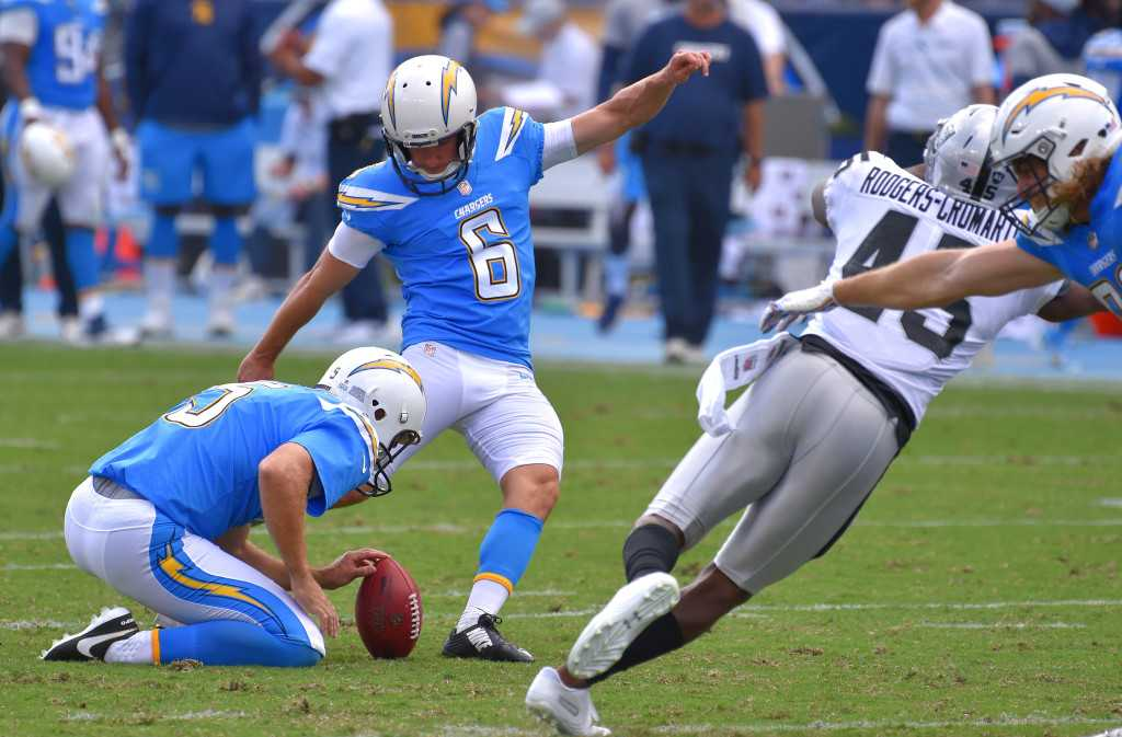 With Caleb Sturgis injured, Chargers sign yet another kicker