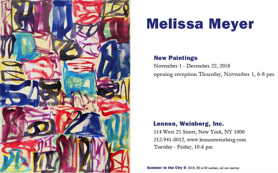 Melissa Meyer, NA: New Paintings