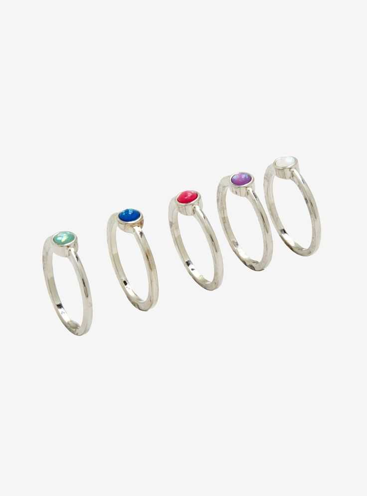 Opal Stackable Ring Set