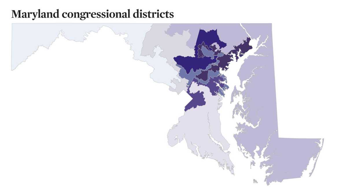 What people are saying about Maryland needing to redraw a congressional map with unconstitutional boundaries