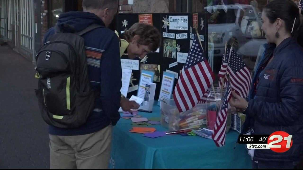 Camp Fire collects words of thanks for veterans